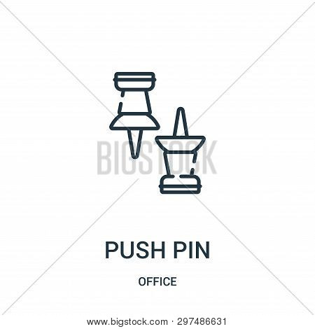 Push Pin Icon Isolated On White Background From Office Collection. Push Pin Icon Trendy And Modern P