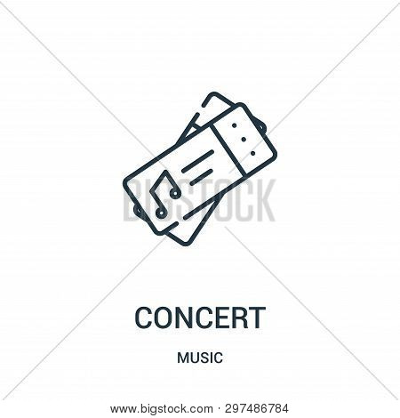 Concert Icon Isolated On White Background From Music Collection. Concert Icon Trendy And Modern Conc
