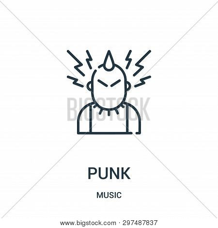 Punk Icon Isolated On White Background From Music Collection. Punk Icon Trendy And Modern Punk Symbo