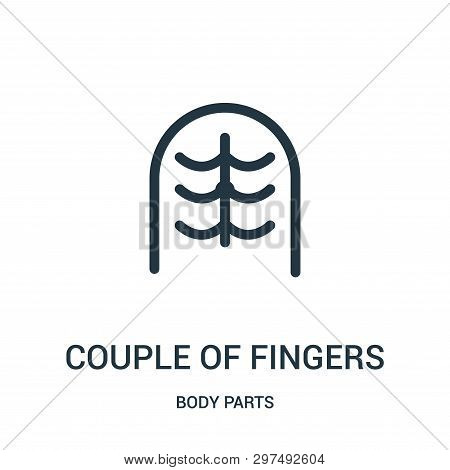 Couple Of Fingers Icon Isolated On White Background From Body Parts Collection. Couple Of Fingers Ic