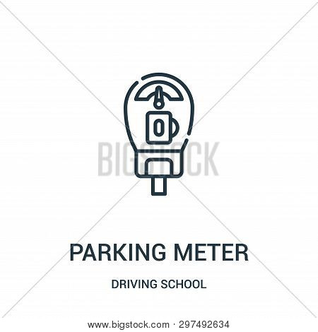 Parking Meter Icon Isolated On White Background From Driving School Collection. Parking Meter Icon T