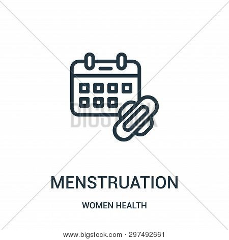 Menstruation Icon Isolated On White Background From Women Health Collection. Menstruation Icon Trend