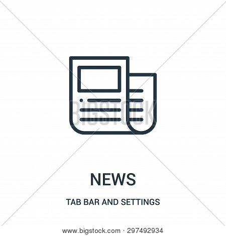 News Icon Isolated On White Background From Tab Bar And Settings Collection. News Icon Trendy And Mo