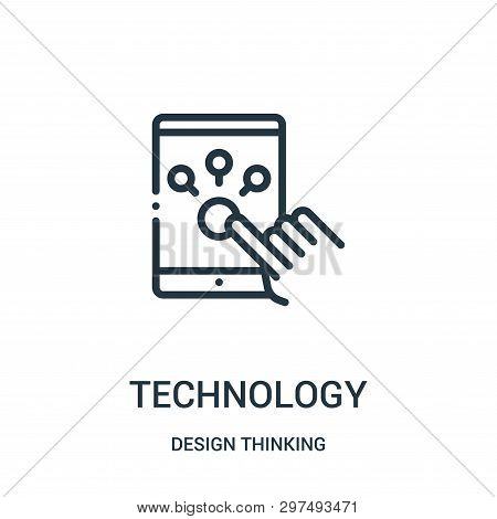 Technology Icon Isolated On White Background From Design Thinking Collection. Technology Icon Trendy