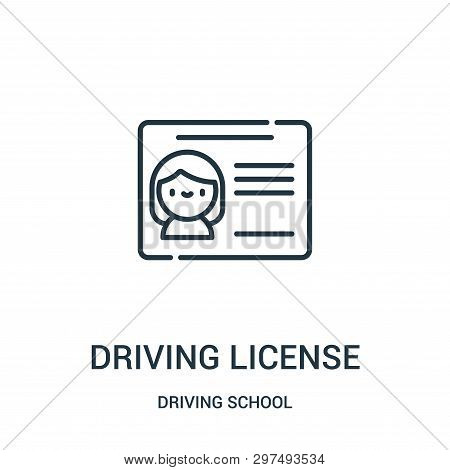 Driving License Icon Isolated On White Background From Driving School Collection. Driving License Ic