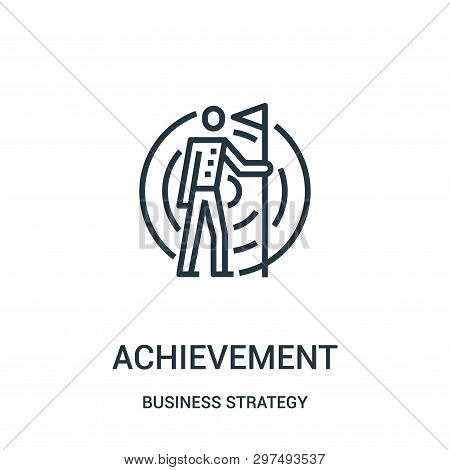 Achievement Icon Isolated On White Background From Business Strategy Collection. Achievement Icon Tr