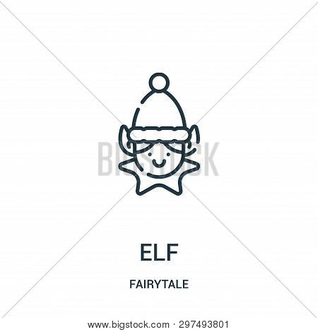 Elf Icon Isolated On White Background From Fairytale Collection. Elf Icon Trendy And Modern Elf Symb