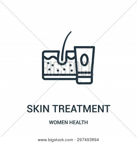 Skin Treatment Icon Isolated On White Background From Women Health Collection. Skin Treatment Icon T