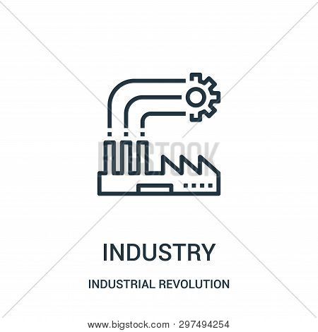Industry Icon Isolated On White Background From Industrial Revolution Collection. Industry Icon Tren