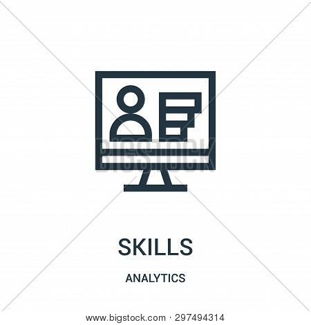 Skills Icon Isolated On White Background From Analytics Collection. Skills Icon Trendy And Modern Sk