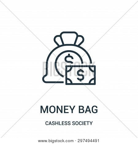 Money Bag Icon Isolated On White Background From Cashless Society Collection. Money Bag Icon Trendy