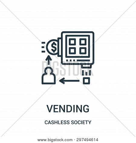 Vending Icon Isolated On White Background From Cashless Society Collection. Vending Icon Trendy And