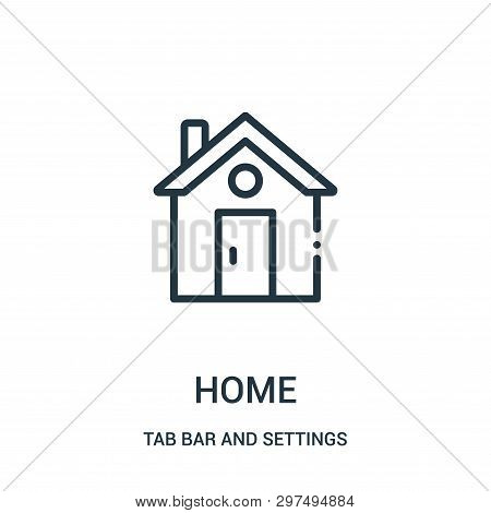 Home Icon Isolated On White Background From Tab Bar And Settings Collection. Home Icon Trendy And Mo