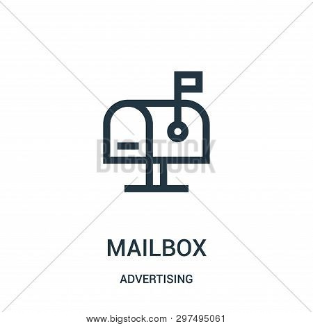 Mailbox Icon Isolated On White Background From Advertising Collection. Mailbox Icon Trendy And Moder