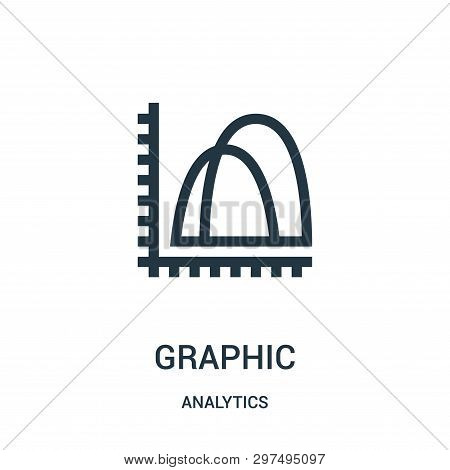 Graphic Icon Isolated On White Background From Analytics Collection. Graphic Icon Trendy And Modern