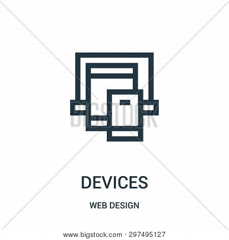 Devices Icon Isolated On White Background From Web Design Collection. Devices Icon Trendy And Modern