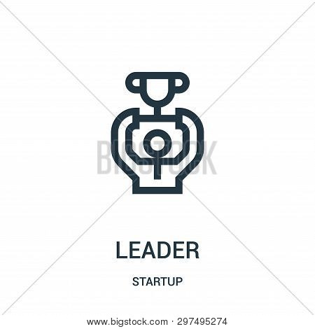 Leader Icon Isolated On White Background From Startup Collection. Leader Icon Trendy And Modern Lead