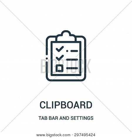 Clipboard Icon Isolated On White Background From Tab Bar And Settings Collection. Clipboard Icon Tre