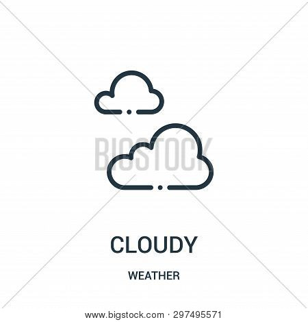 Cloudy Icon Isolated On White Background From Weather Collection. Cloudy Icon Trendy And Modern Clou