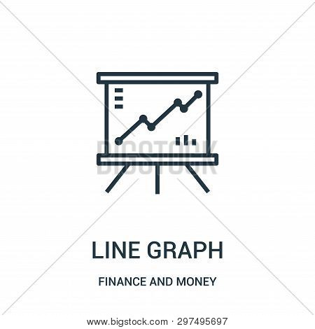 Line Graph Icon Isolated On White Background From Finance And Money Collection. Line Graph Icon Tren