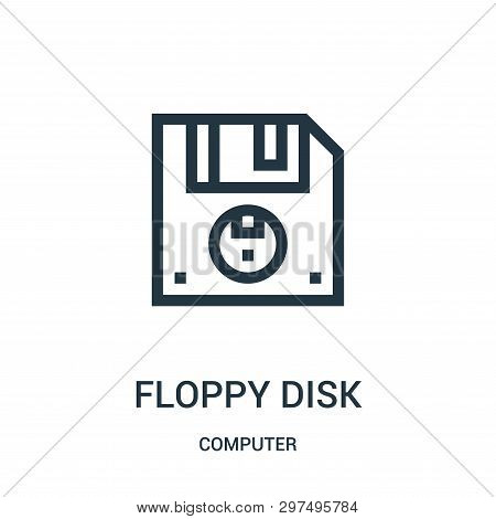 Floppy Disk Icon Isolated On White Background From Computer Collection. Floppy Disk Icon Trendy And
