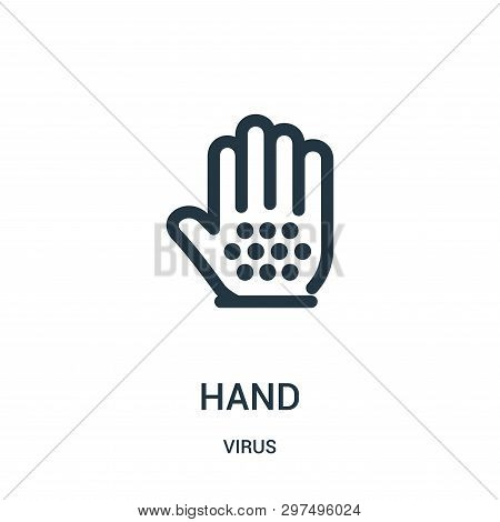 Hand Icon Isolated On White Background From Virus Collection. Hand Icon Trendy And Modern Hand Symbo