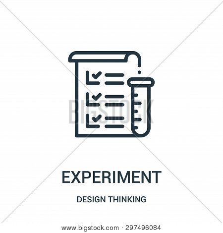 Experiment Icon Isolated On White Background From Design Thinking Collection. Experiment Icon Trendy