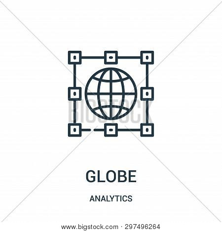 Globe Icon Isolated On White Background From Analytics Collection. Globe Icon Trendy And Modern Glob