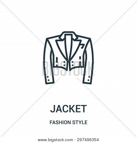 Jacket Icon Isolated On White Background From Fashion Style Collection. Jacket Icon Trendy And Moder