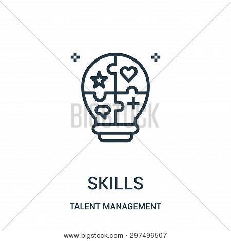 Skills Icon Isolated On White Background From Talent Management Collection. Skills Icon Trendy And M