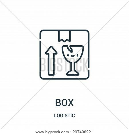 Box Icon Isolated On White Background From Logistic Collection. Box Icon Trendy And Modern Box Symbo