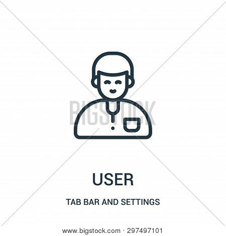 User Icon Isolated On White Background From Tab Bar And Settings Collection. User Icon Trendy And Mo