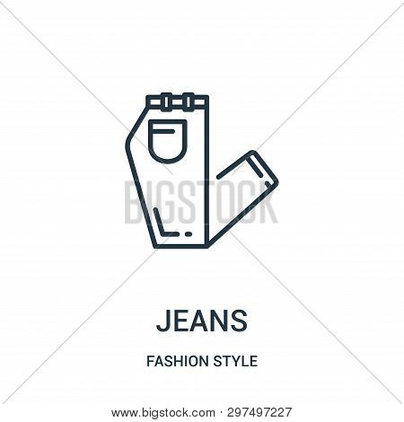 Jeans Icon Isolated On White Background From Fashion Style Collection. Jeans Icon Trendy And Modern