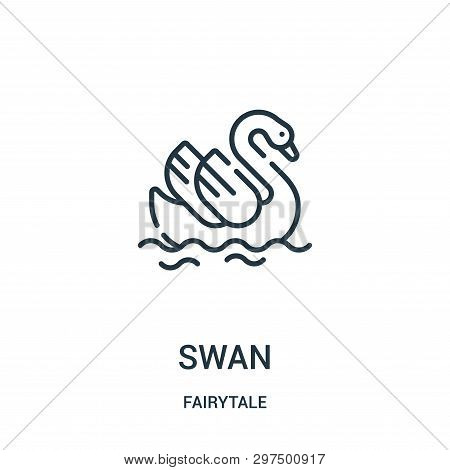 Swan Icon Isolated On White Background From Fairytale Collection. Swan Icon Trendy And Modern Swan S