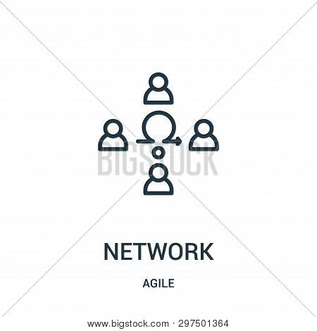 Network Icon Isolated On White Background From Agile Collection. Network Icon Trendy And Modern Netw