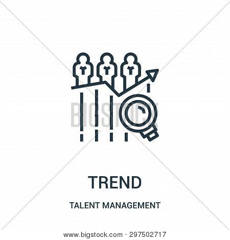 Trend Icon Isolated On White Background From Talent Management Collection. Trend Icon Trendy And Mod