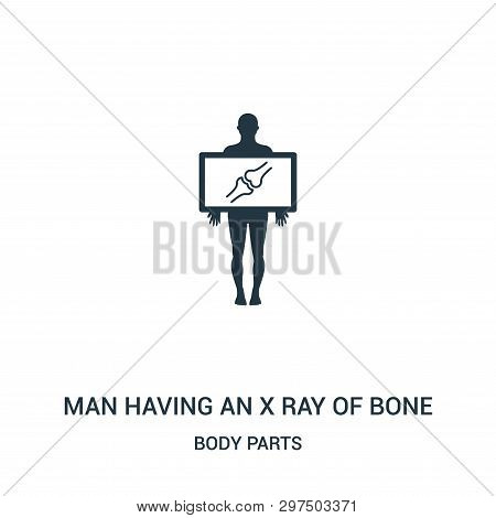 Man Having An X Ray Of Bone Icon Isolated On White Background From Body Parts Collection. Man Having