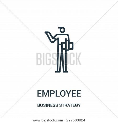 Employee Icon Isolated On White Background From Business Strategy Collection. Employee Icon Trendy A