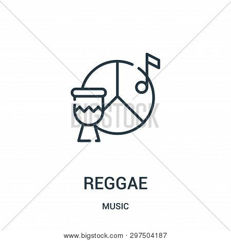 Reggae Icon Isolated On White Background From Music Collection. Reggae Icon Trendy And Modern Reggae