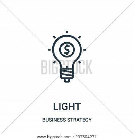 Light Icon Isolated On White Background From Business Strategy Collection. Light Icon Trendy And Mod