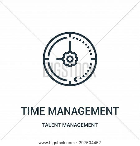 Time Management Icon Isolated On White Background From Talent Management Collection. Time Management