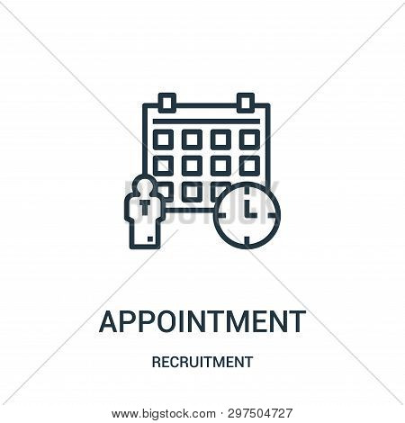 Appointment Icon Isolated On White Background From Recruitment Collection. Appointment Icon Trendy A