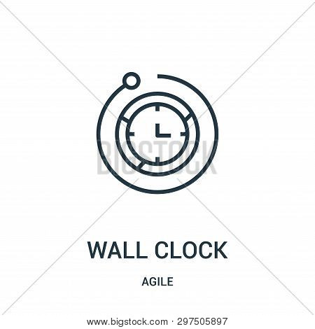 Wall Clock Icon Isolated On White Background From Agile Collection. Wall Clock Icon Trendy And Moder