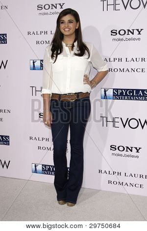 """LOS ANGELES - FEB 6:  Rebecca Black arrives at """"The Vow"""" Premiere at Gramans Chinese Theater on February 6, 2012 in Los Angeles, CA"""