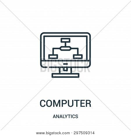 Computer Icon Isolated On White Background From Analytics Collection. Computer Icon Trendy And Moder