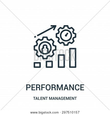 Performance Icon Isolated On White Background From Talent Management Collection. Performance Icon Tr
