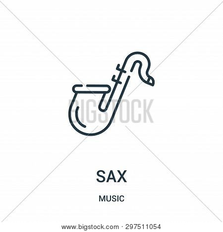 Sax Icon Isolated On White Background From Music Collection. Sax Icon Trendy And Modern Sax Symbol F