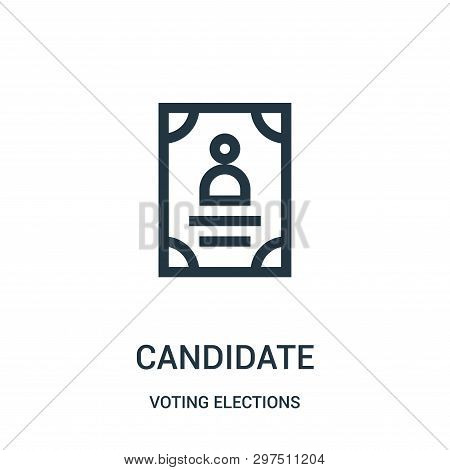 Candidate Icon Isolated On White Background From Voting Elections Collection. Candidate Icon Trendy