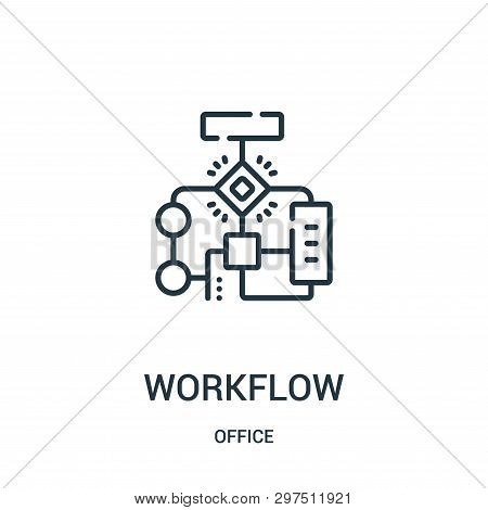 Workflow Icon Isolated On White Background From Office Collection. Workflow Icon Trendy And Modern W