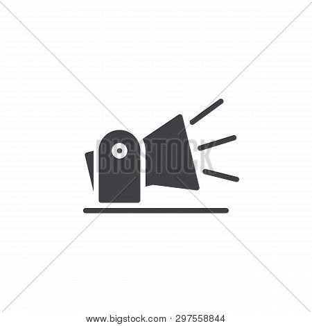 Searchlight, Spotlight Vector Icon. Projector Lamp Filled Flat Sign For Mobile Concept And Web Desig